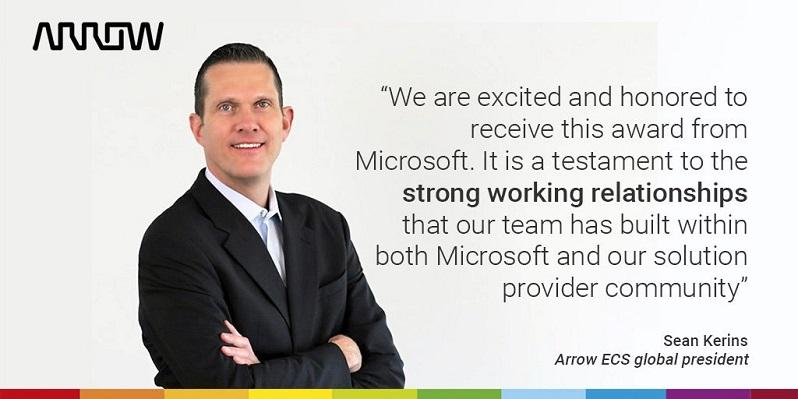 Arrow es reconocida por Microsoft como Mejor Proveedor de 2019