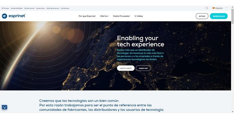 Ya operativa la nueva web de Esprinet rediseñada para facilitar la experiencia de sus visitantes